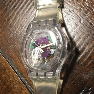 Swatch Clear Watch with Transparent Face